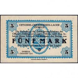 Allemagne - Camp de prisonniers - Döbeln - 5 mark - 01/12/1917 - Etat : SPL