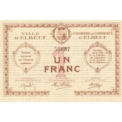 Elbeuf - Pirot 55-02a - 1 franc - Etat : SUP