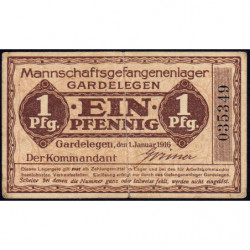 Allemagne - Camp de prisonniers - Gardelegen - 1 pfennig - 01/01/1917 - Etat : TTB