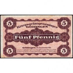 Allemagne - Camp de prisonniers - Göttingen - 5 pfennig - 12/1917 - Etat : SUP