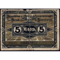 Allemagne - Camp de prisonniers - Guben - 5 mark - 01/10/1917 - Etat : TB-