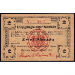 Allemagne - Camp de prisonniers - Holzminden - 2 pfennig - 10/1915 - Etat : TTB