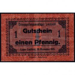 Allemagne - Camp de prisonniers - Lechfeld - 1 pfennig - 15/11/1915 - Etat : TTB