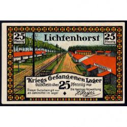 Allemagne - Camp de prisonniers - Lichtenhorst - 25 pfennig - 1922 - Etat : SPL