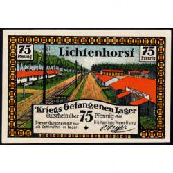Allemagne - Camp de prisonniers - Lichtenhorst - 75 pfennig - 1922 - Etat : SPL