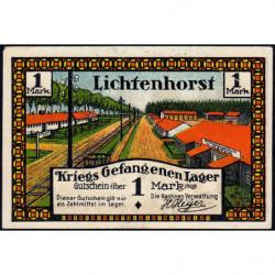 Allemagne - Camp de prisonniers - Lichtenhorst - 1 mark - 1922 - Etat : SPL