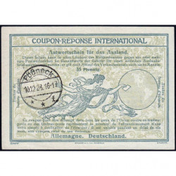 Pössneck - Coupon-réponse international - 35 reichspfennig - 10/12/1928 - Etat : SUP+