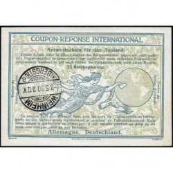 Weinheim - Coupon-réponse international - 35 reichspfennig - 03/05/1930 - Etat : SUP+