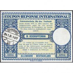 Hamburg - Coupon-réponse international - 35 reichspfennig - 24/01/1931 - Etat : SPL