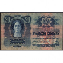 Autriche - Pick 13 - 20 kronen - 02/01/1913 - Etat : TTB-
