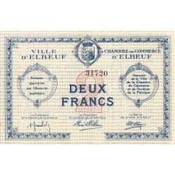 Elbeuf - Pirot 55-03a - 2 francs - Etat : SUP