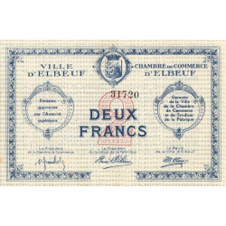 Elbeuf - Pirot 55-3 - 2 francs - Sans date - Etat : SUP