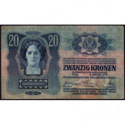 Autriche - Pick 13 - 20 kronen - 02/01/1913 - Etat : TTB