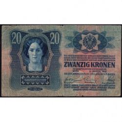 Autriche - Pick 13 - 20 kronen - 02/01/1913 - Etat : TB-