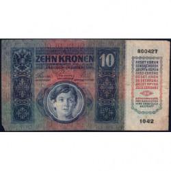 Autriche - Pick 19 - 10 kronen - 02/01/1915 - Etat : TB-