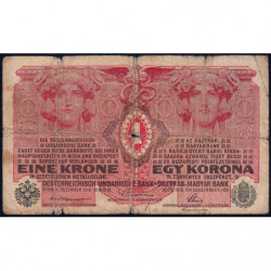 Autriche - Pick 20 -1 krone - 01/12/1916 - Etat : B