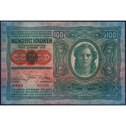 Autriche - Pick 56_1 - 100 kronen - 1919 - Etat : SPL
