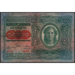 Autriche - Pick 56_2 - 100 kronen - 1919 - Etat : TB+