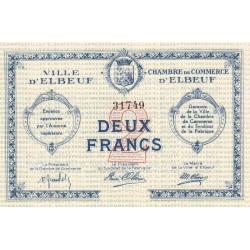 Elbeuf - Pirot 55-3 - 2 francs - Sans date - Etat : SUP+