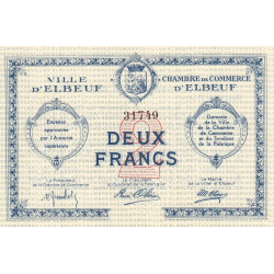 Elbeuf - Pirot 55-3a - 2 francs - Etat : SUP+