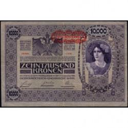 Autriche - Pick 65 - 10'000 kronen - 1919 - Etat : TTB