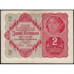 Autriche - Pick 74 - 2 kronen - 02/01/1922 - Etat : SUP+