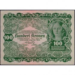 Autriche - Pick 77 - 100 kronen - 02/01/1922 - Etat : pr.NEUF