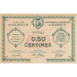 Elbeuf - Pirot 55-4 - 50 centimes - Sans date  - Etat : SUP-