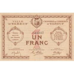 Elbeuf - Pirot 55-5 - 1 franc - Sans date - Etat : SUP-