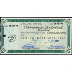 Autriche - Chèque Voyage - Österreichische Länderbank - 500 shilling - 1970 - Etat : SPL