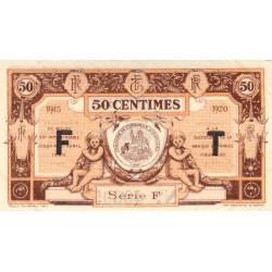 Aurillac (Cantal) - Pirot 16-7b - Série F - 50 centimes - 1915 - Etat : SUP+