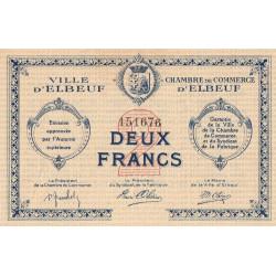 Elbeuf - Pirot 55-06 - 2 francs - Etat : SUP-