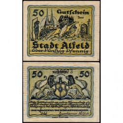 Allemagne - Notgeld - Alfeld - 50 pfennig - 18/06/1919 - Etat : SUP