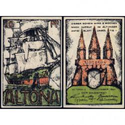 Allemagne - Notgeld - Altona - 20 pfennig - 12/12/1921 - Etat : SUP