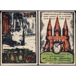 Allemagne - Notgeld - Altona - 30 pfennig - 12/12/1921 - Etat : SUP