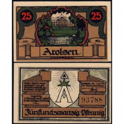Allemagne - Notgeld - Arolsen (Bad-Arolsen) - 25 pfennig - 06/1921 - Etat : NEUF