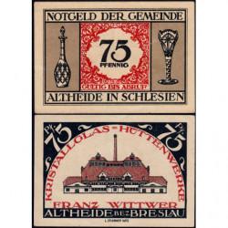 Pologne - Notgeld - Altheide (Polanica-Zdroj) - 75 pfennig - 1921 - Etat : SPL