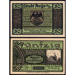Pologne - Notgeld - Arÿs (Orzysz) - 50 pfennig - 01/02/1921 - Etat : NEUF