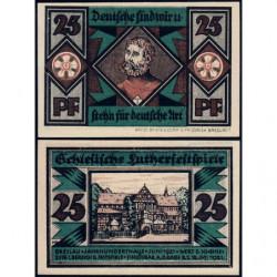Pologne - Notgeld - Breslau (Wroclaw) - 25 pfennig - Lettre T - 06/1921 - Etat : NEUF