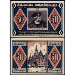 Pologne - Notgeld - Breslau (Wroclaw) - 50 pfennig - Lettre H - 06/1921 - Etat : NEUF