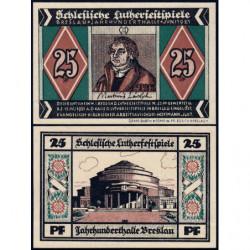 Pologne - Notgeld - Breslau (Wroclaw) - 25 pfennig - Lettre E - 06/1921 - Etat : NEUF
