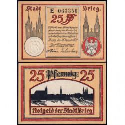 Pologne - Notgeld - Brieg (Brzeg) - 25 pfennig - Série E - 18/01/1921 - Etat : NEUF