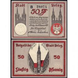 Pologne - Notgeld - Brieg (Brzeg) - 50 pfennig - Série B - 18/01/1921 - Etat : NEUF