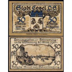 Pologne - Notgeld - Cosel (Kozla) - 50 pfennig - 01/04/1921 - Etat : NEUF