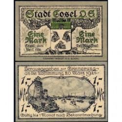 Pologne - Notgeld - Cosel (Kozla) - 1 mark - 01/04/1921 - Etat : NEUF