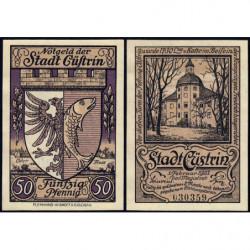 Pologne - Notgeld - Cüstrin (Kostrzyn nad Odra) - 50 pfennig - 01/01/1921 - Etat : NEUF