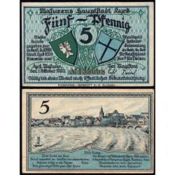 Pologne - Notgeld - Lyck (Elk) - 5 pfennig - 01/10/1920 - Etat : SUP
