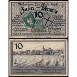 Pologne - Notgeld - Lyck (Elk) - 10 pfennig - 01/10/1920 - Etat : TTB