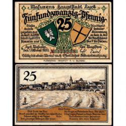 Pologne - Notgeld - Lyck (Elk) - 25 pfennig - 01/10/1920 - Etat : SUP