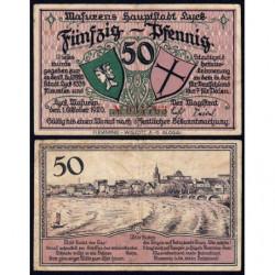 Pologne - Notgeld - Lyck (Elk) - 50 pfennig - 01/10/1920 - Etat : TTB-